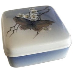 Royal Copenhagen Box with Lid #3633 Butterfly