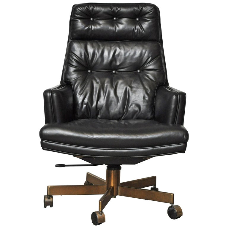 Dunbar Executive Desk Chair by Edward Wormley For Sale