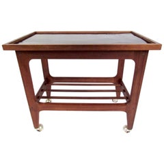 Scandinavian Modern Teak Serving Cart