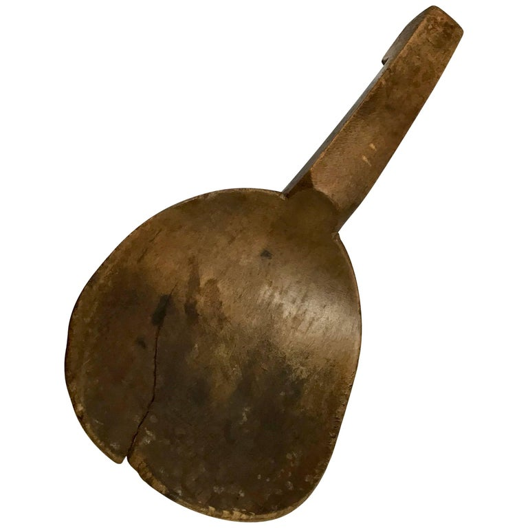 Late 19th Century Wooden Spoon Paddle from France