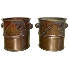 Pair of Brass Japanese Braziers 'Incense Burners'