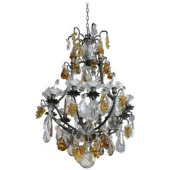 Louis XV Style Crystal Bird Cage Chandelier