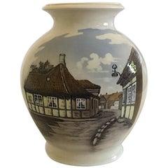 Royal Copenhagen Vase No. 4588 with Village Motif