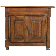 Small-Scale Late 18th Century French Walnut Cabinet or Nightstand