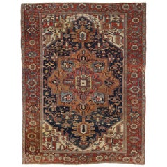 Antique Persian Serapi Rug with Traditional Modern Style