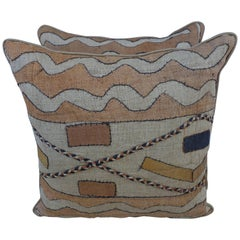 African Kuba Cloth Pillows by Melissa Levinson