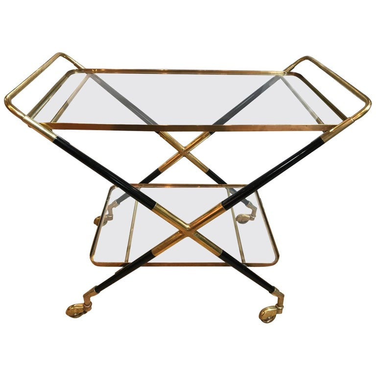 Vintage Art Deco Bar Cart For Sale