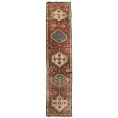 Vintage Persian Meshkin Rug Runner