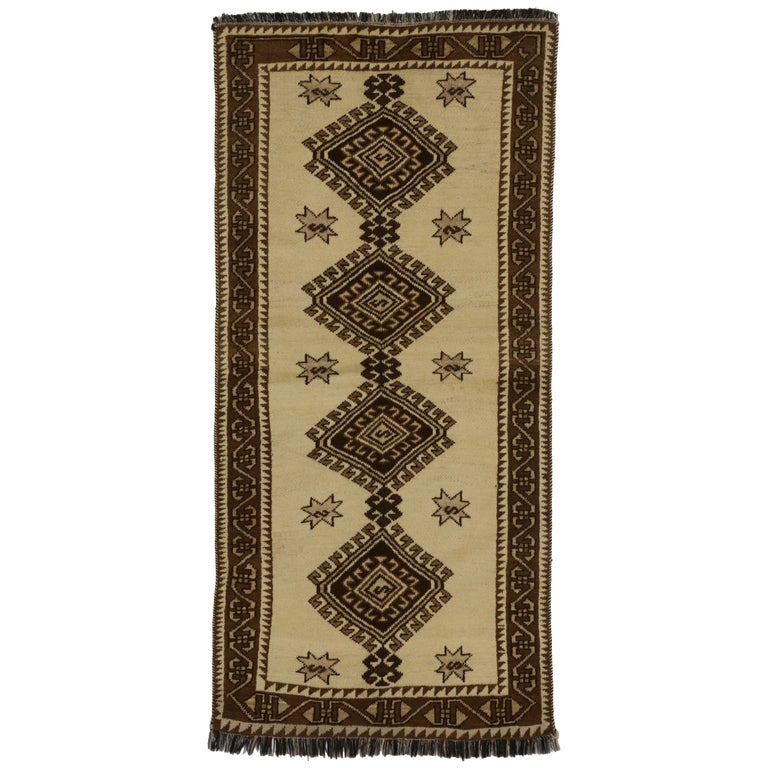 Vintage Persian Shiraz Tribal Rug, Tribal Accent Rug