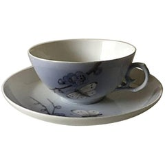 Royal Copenhagen Art Nouveau Tea Cup and Saucer No. 2322/9067