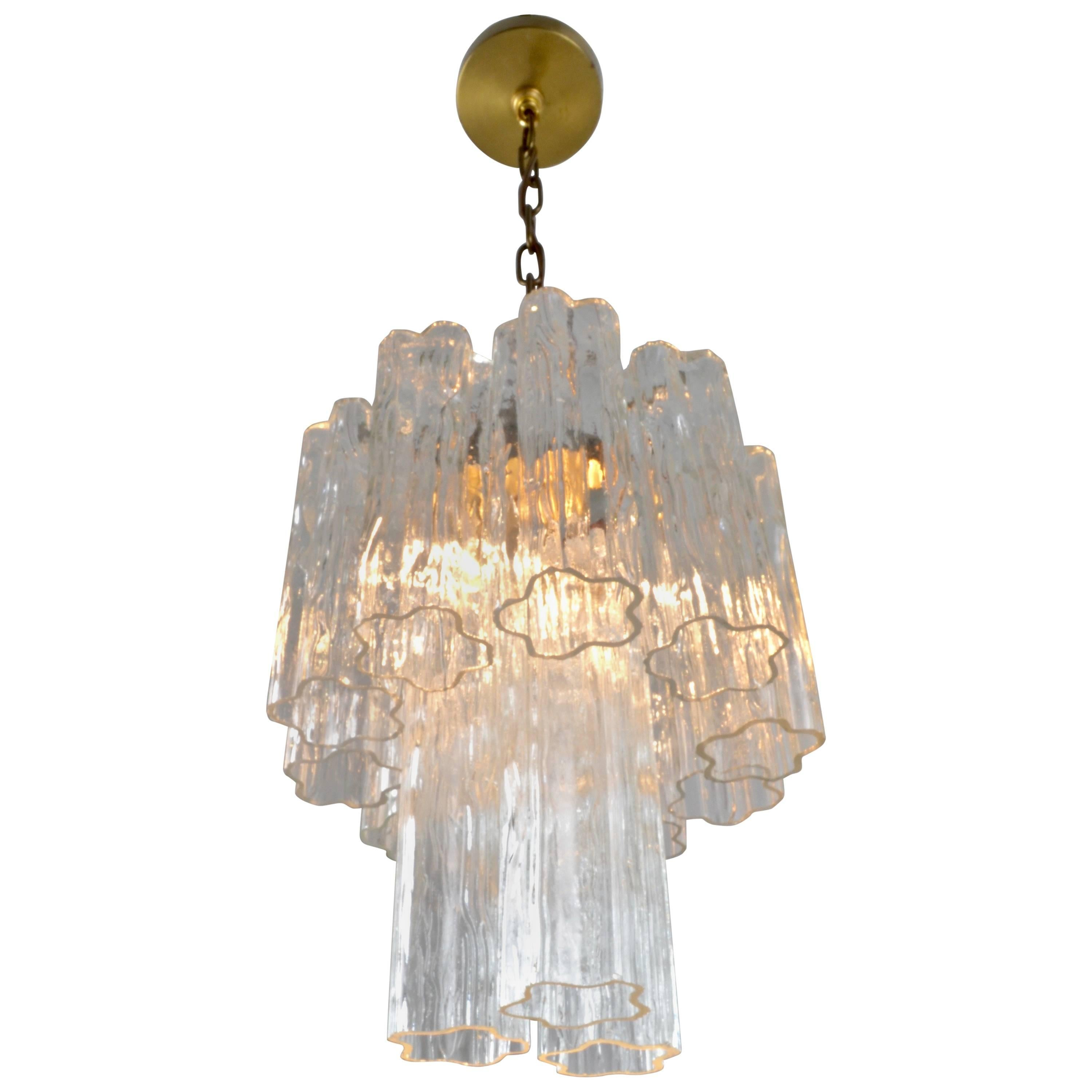 Murano Glass Tronchi Chandelier, Italy, 1960s, Petite Size