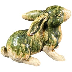 Japanese Tall Floppy Ear Rabbit Sculpture Mint, Signed and Boxed