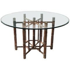 Vintage Bamboo and Rattan Dining Table by McGuire