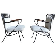 "Rare Pair of ""Ribbon"" Lounge Chairs Maurizio Tempestini for Salterini"