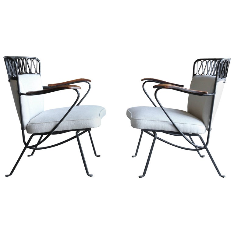 "Rare Pair of ""Ribbon"" Lounge Chairs Maurizio Tempestini for Salterini For Sale"