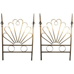 Pair of Hollywood Regency Gilt Twin Headboards