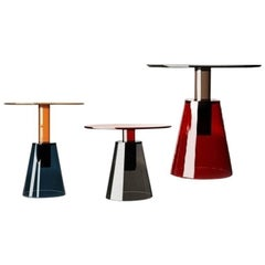 Ilia Glass Contemporary Set of Three Tables by Christophe Pillet