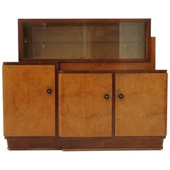 Rationalist Italian Sideboard with Showcase, 1930s