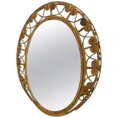 Retro Rattan Mirror