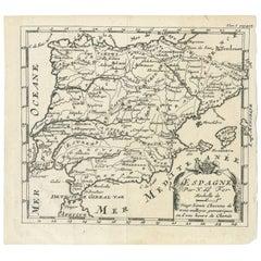 Antique Map of Spain by N. de Fer, circa 1700