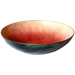 Paolo De Poli Italian Design Enameled Copper Midcentury 1950s Bowl