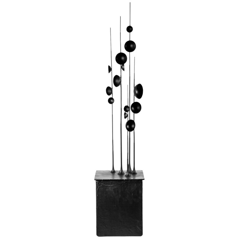 Blossfeldt Station II by Tom Palmer, Rubber Coated Steel and Gilding Metal For Sale