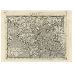 Antique Map of Greece by G. Magini, 1597