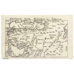 Antique Map of Asia Minor by E. Wells, circa 1718