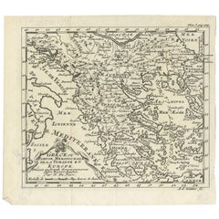 Antique Map of Greece and the Balkans by N. de Fer, circa 1684