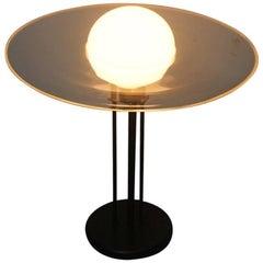 Lino Tagliapietra Table Lamp Saturno Effetre International Murano Glass Black