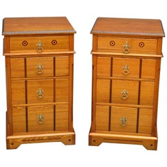 Pair of Victorian Ash Bedside Drawers