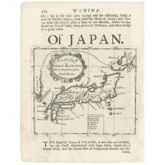 Antique Map of Japan by R. Morden, 1687