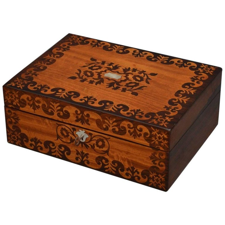Early Victorian Jewelry Box