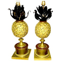 Pair of Table Lamps in Bronze Attributed to A. Jansen, French, 1940s
