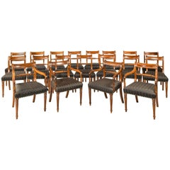 Set of 18 Regency Period Mahogany Framed Chairs