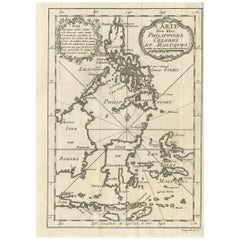 Antique Map of the Islands of the Philippines and Surrounding Islands, 1764
