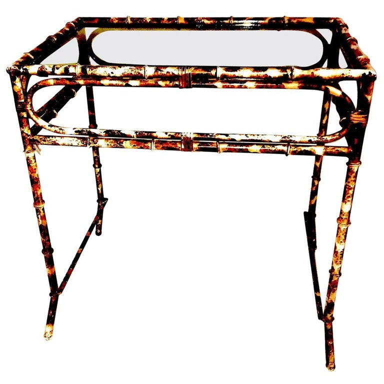 Metal Occasional Table in the Style of A.Jansen French, 1970s