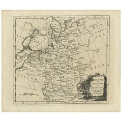 Antique Map of Russia in Europe by T. Kitchin, circa 1770
