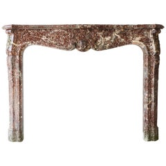 Antique Marble Fireplace, 18th century, style of Louis XV
