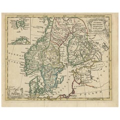 Antique Map of Scandinavia by T. Jefferys, circa 1750
