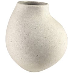 Contemporary Ceramic Curved Neck Vase No. 146 by Yumiko Kuga