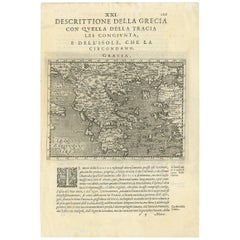 Antique Map of Greece by G. Porro, 1598