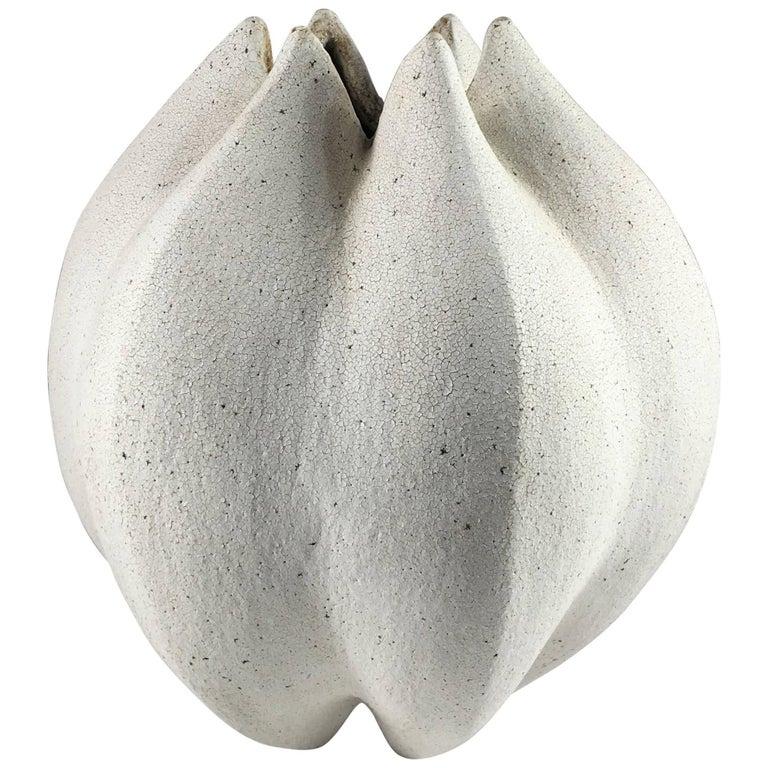 Contemporary Ceramic Blossom Vase No. 147 by Yumiko Kuga