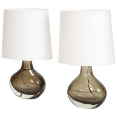 Pair of Flavio Poli Sommerso Table Lamps Seguso, 1960s