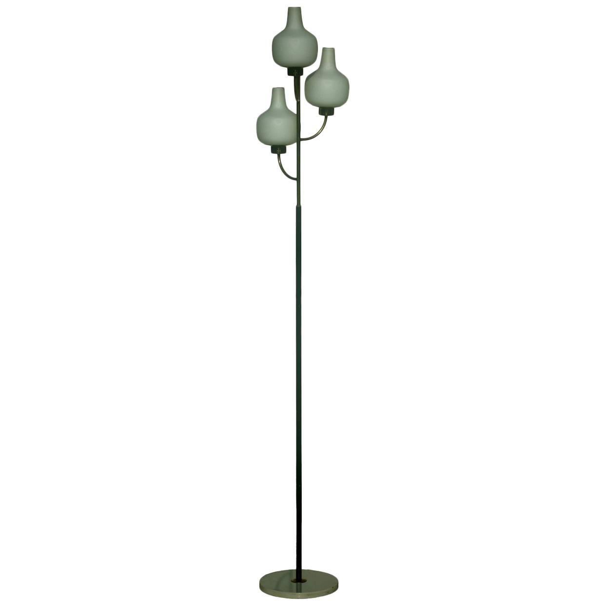 Stilnovo Italian Design Midcentury 1950s Floor Lamp with Label