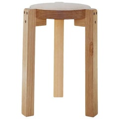 Girafa Stool, Handmade of Solid Wood, Modern Brazilian Design