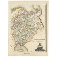 Antique Map of Russia in Europe by J. Thomson, 1819