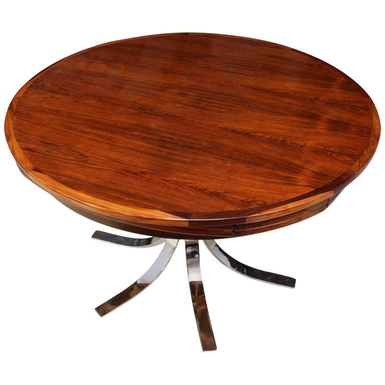 Rosewood Lotus Flip-Flap Table by Dyrlund