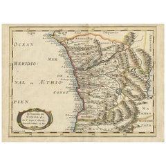 Antique Map of the Congo, Gabon and Angola by N. Sanson, circa 1700