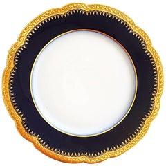 Porcelain Limoge Plate Double Gilding Service Ceremonial 30 Pieces